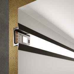 Встраиваемый алюминиевый профиль черный/белый для светодиодной ленты LL-2-ALP007