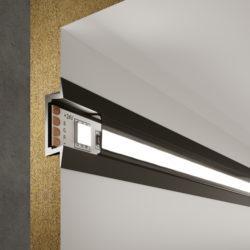 Встраиваемый алюминиевый профиль черный/черный для светодиодной ленты LL-2-ALP007