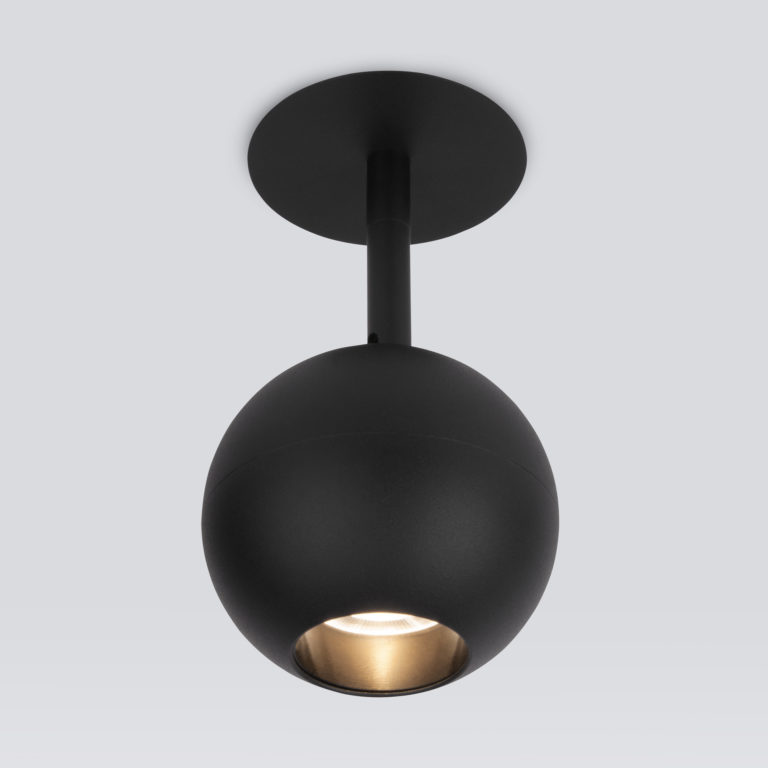 Встраиваемый светодиодный светильник черный 9926 LED
