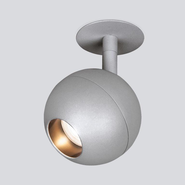 Встраиваемый светодиодный светильник серебро 9925 LED