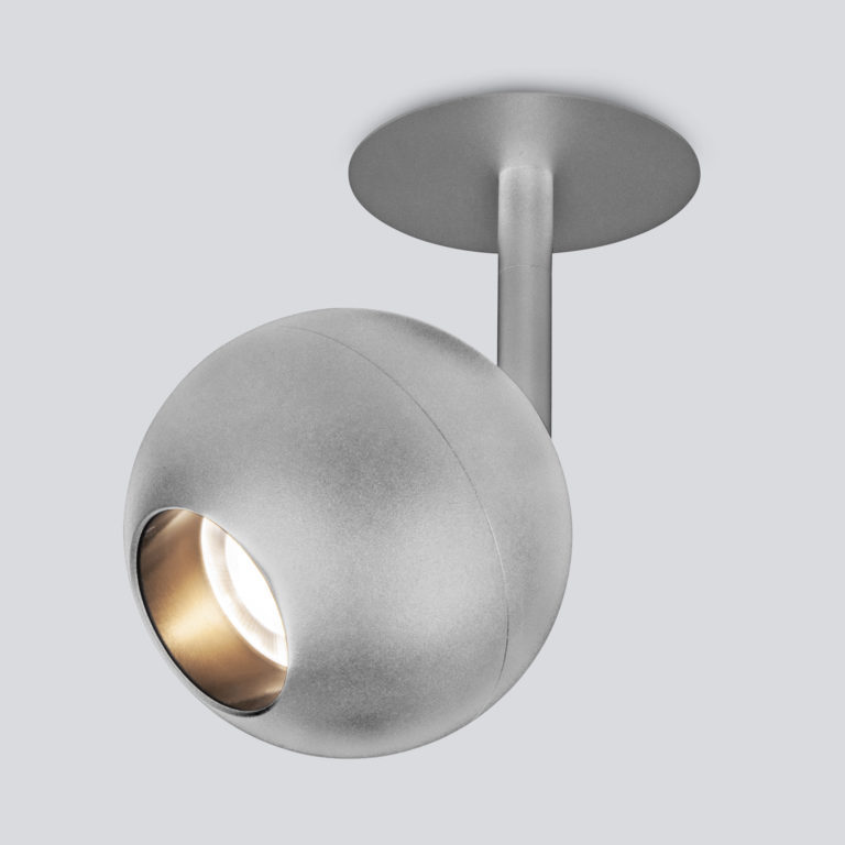 Встраиваемый светодиодный светильник серебро 9926 LED