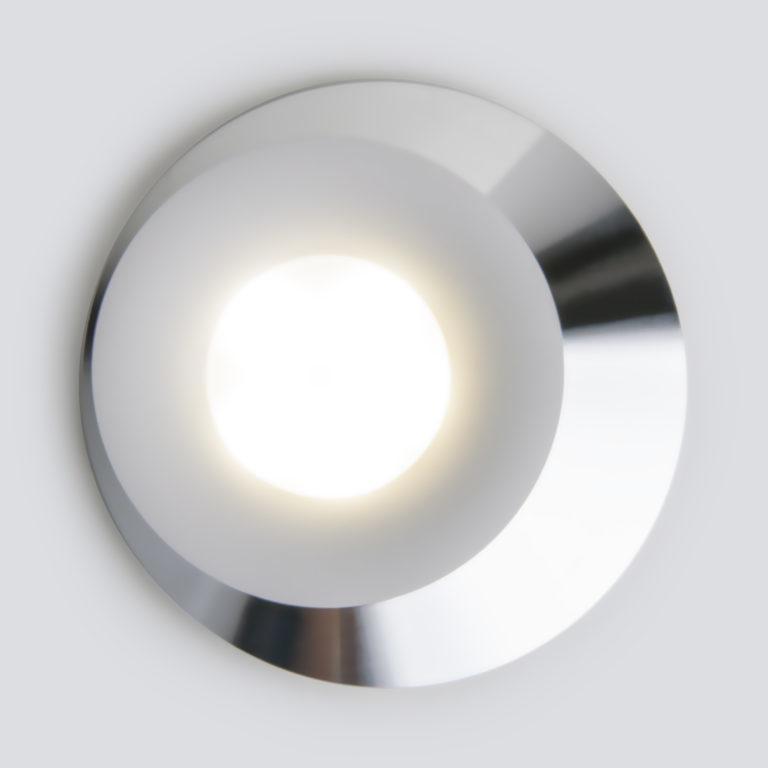 Встраиваемый точечный светильник 124 MR16 белый/серебро