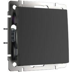 Выключатель одноклавишный (черный матовый) W1110008