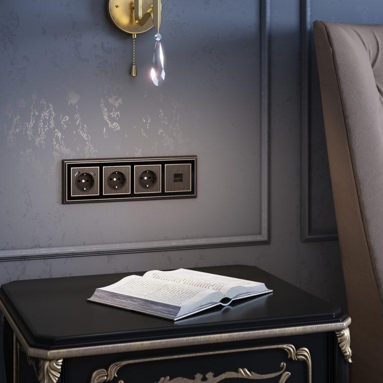 Накладка для розетки (бронзовый) W1179012