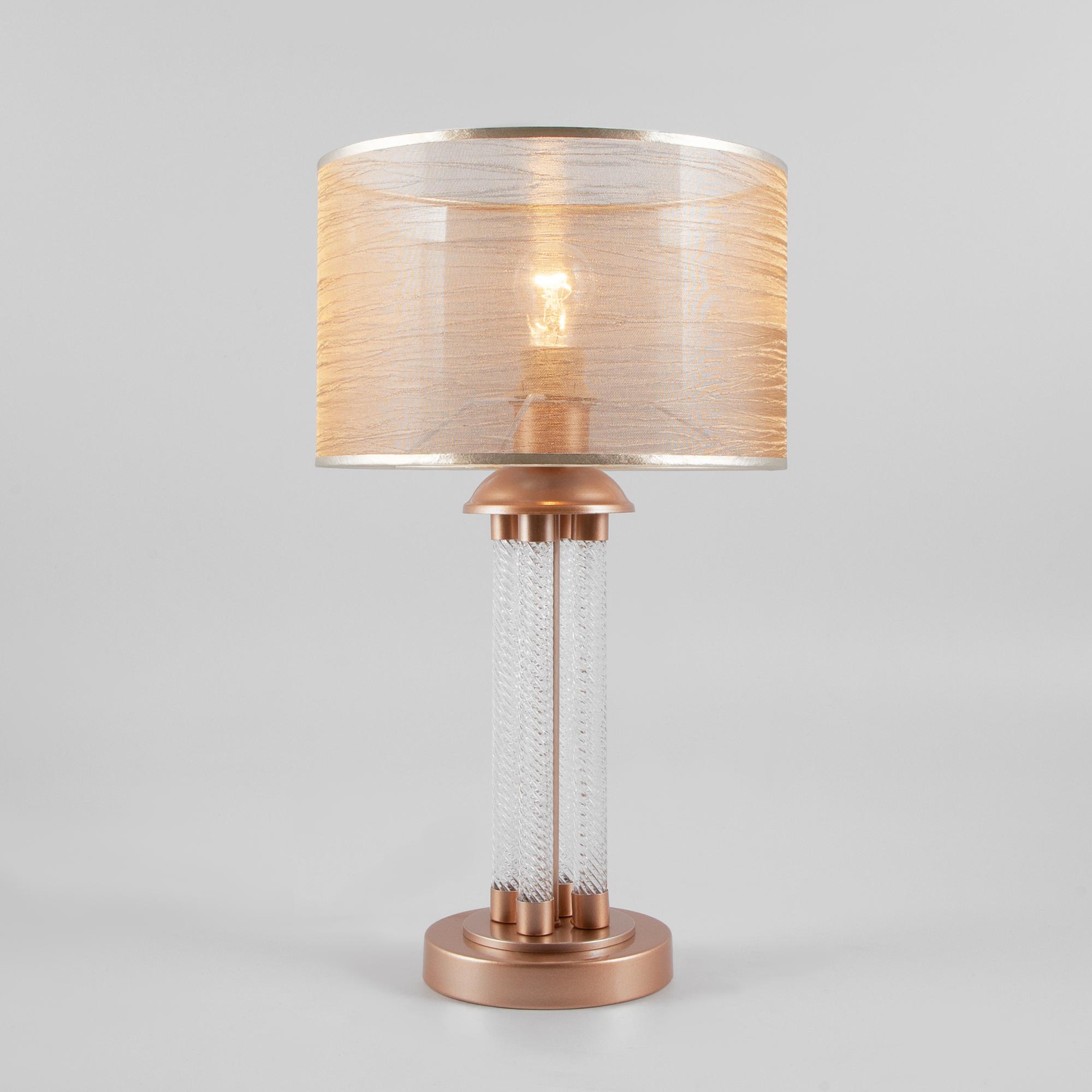Классическая настольная лампа 01073/1 перламутровое золото