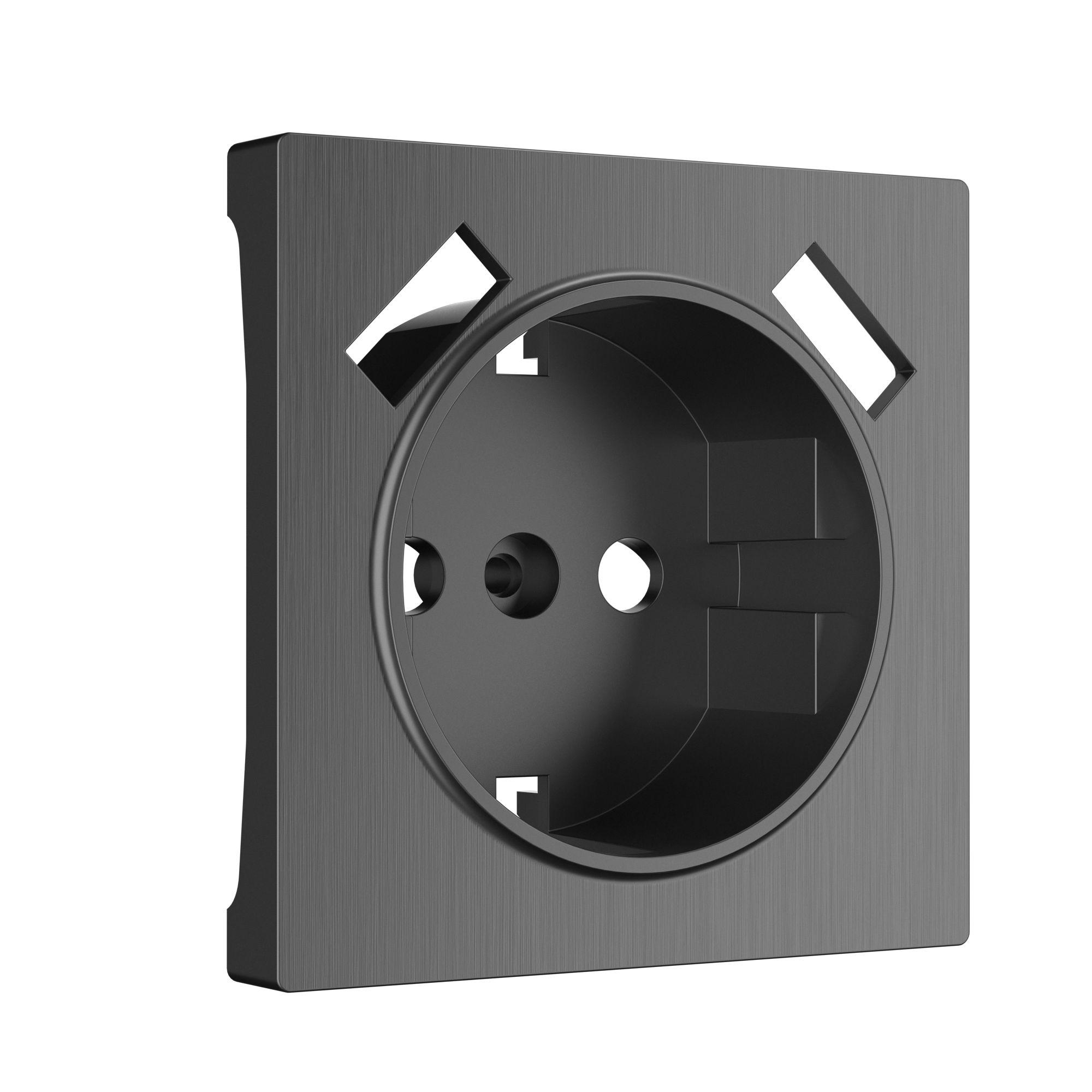 Накладка для розетки USB (графит рифленый) W1179504