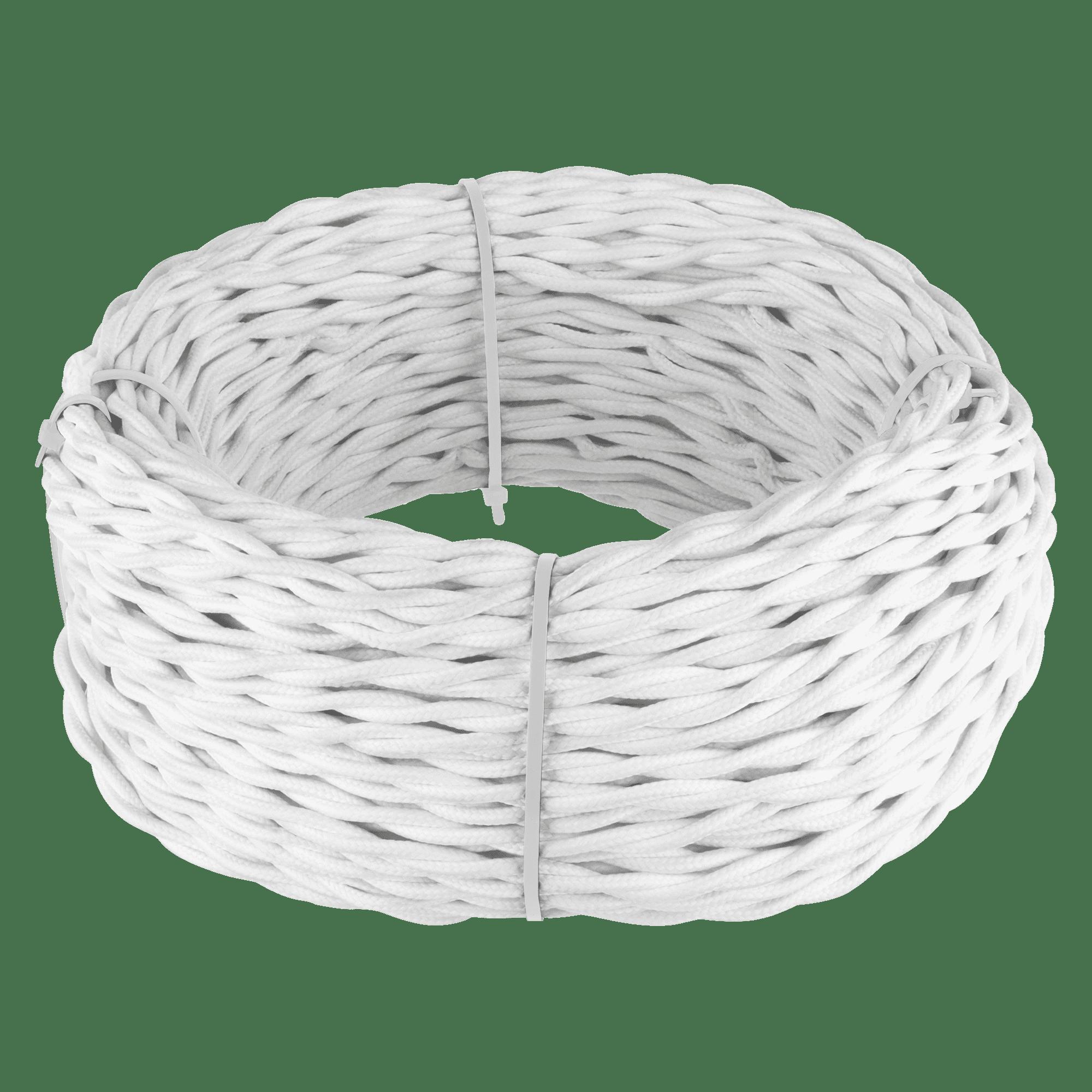 Ретро кабель витой 2х1,5 (белый) 50 м W6452501
