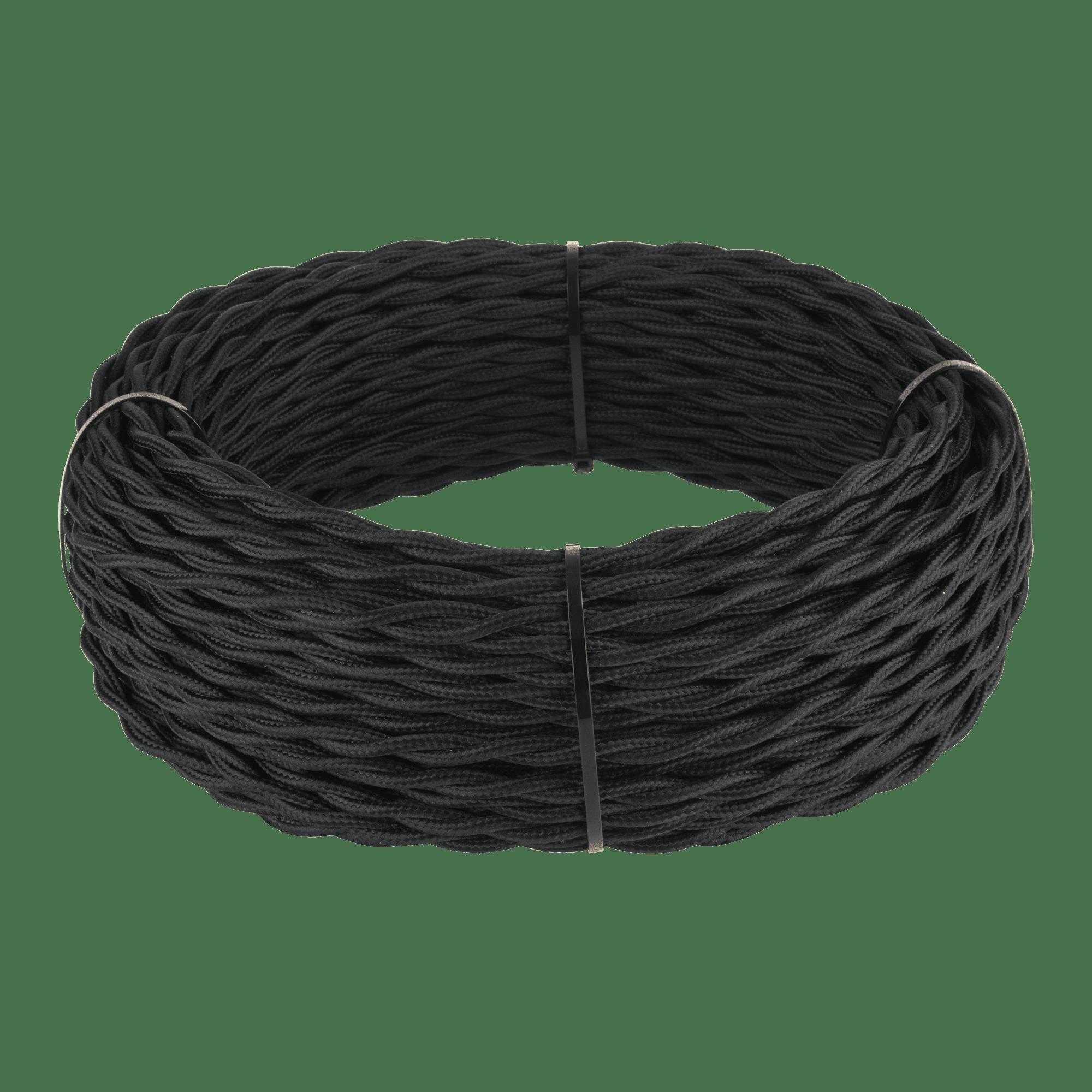 Ретро кабель витой 3х2,5 (черный) 50 м W6453608