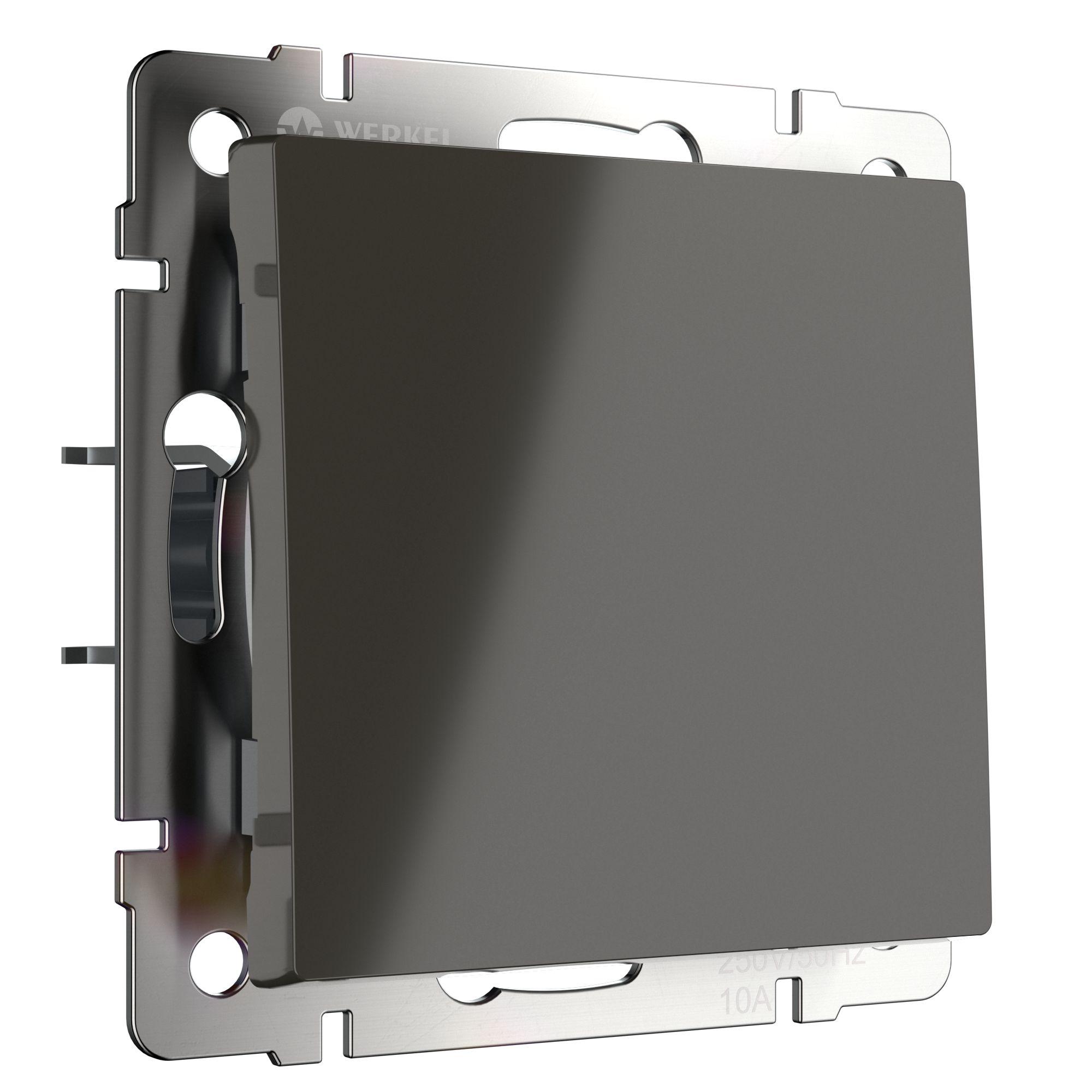 Выключатель одноклавишный проходной (серо-коричневый) W1112007