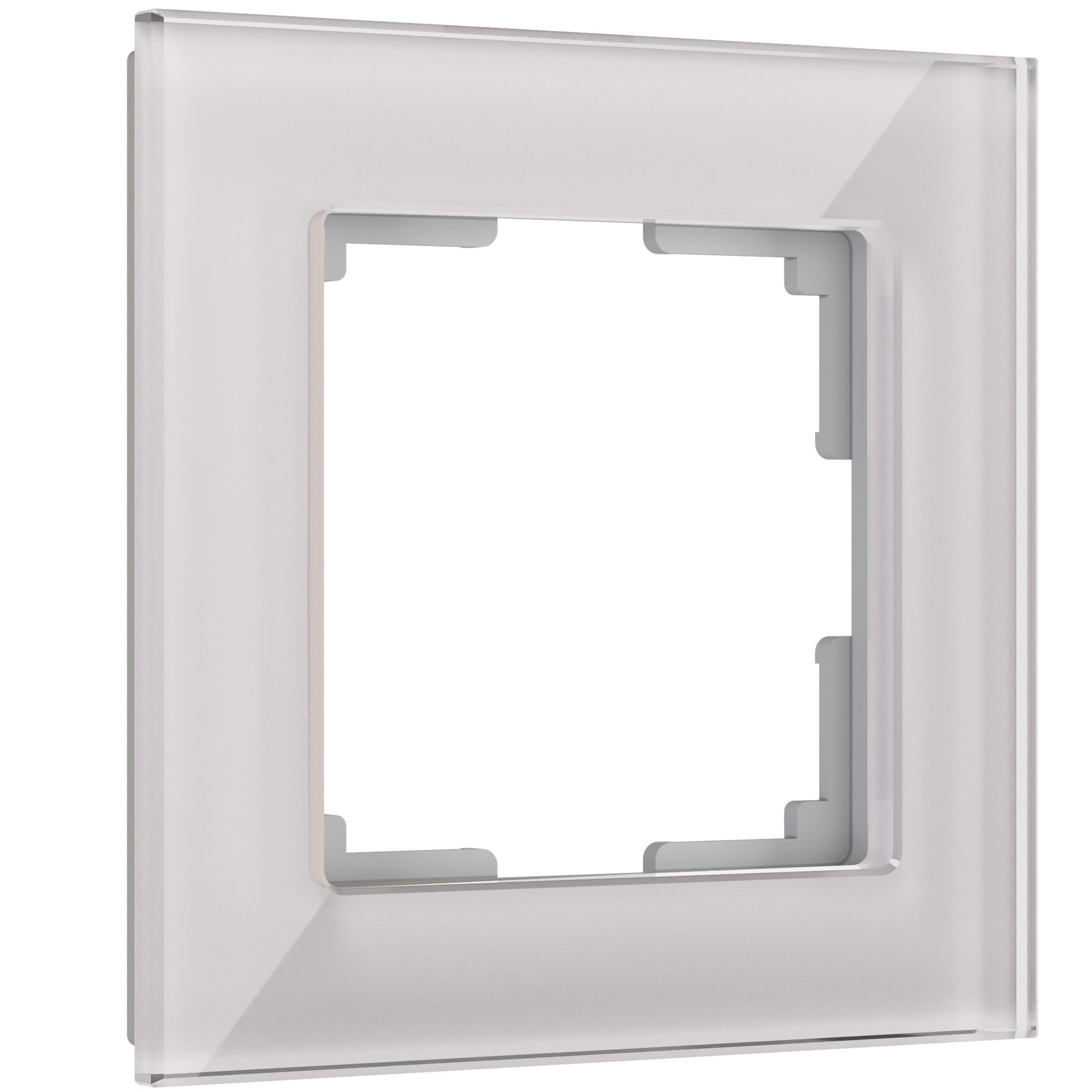 Рамка на 1 пост (дымчатый,стекло) W0011117