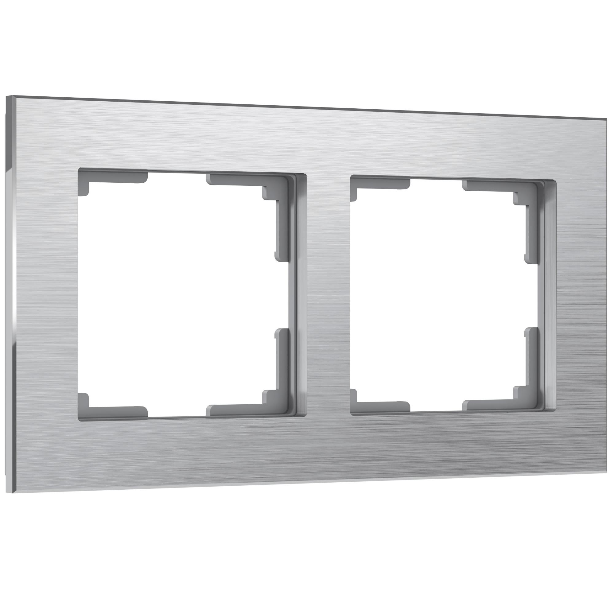 Рамка на 2 поста (алюминий) W0021706