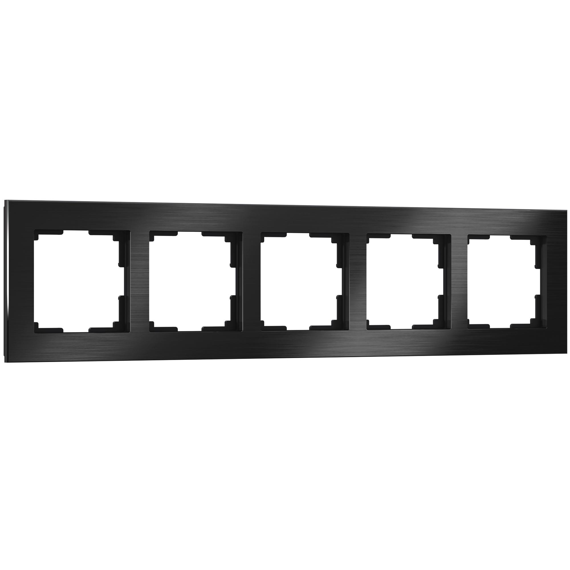Рамка на 5 постов (черный алюминий) W0051708