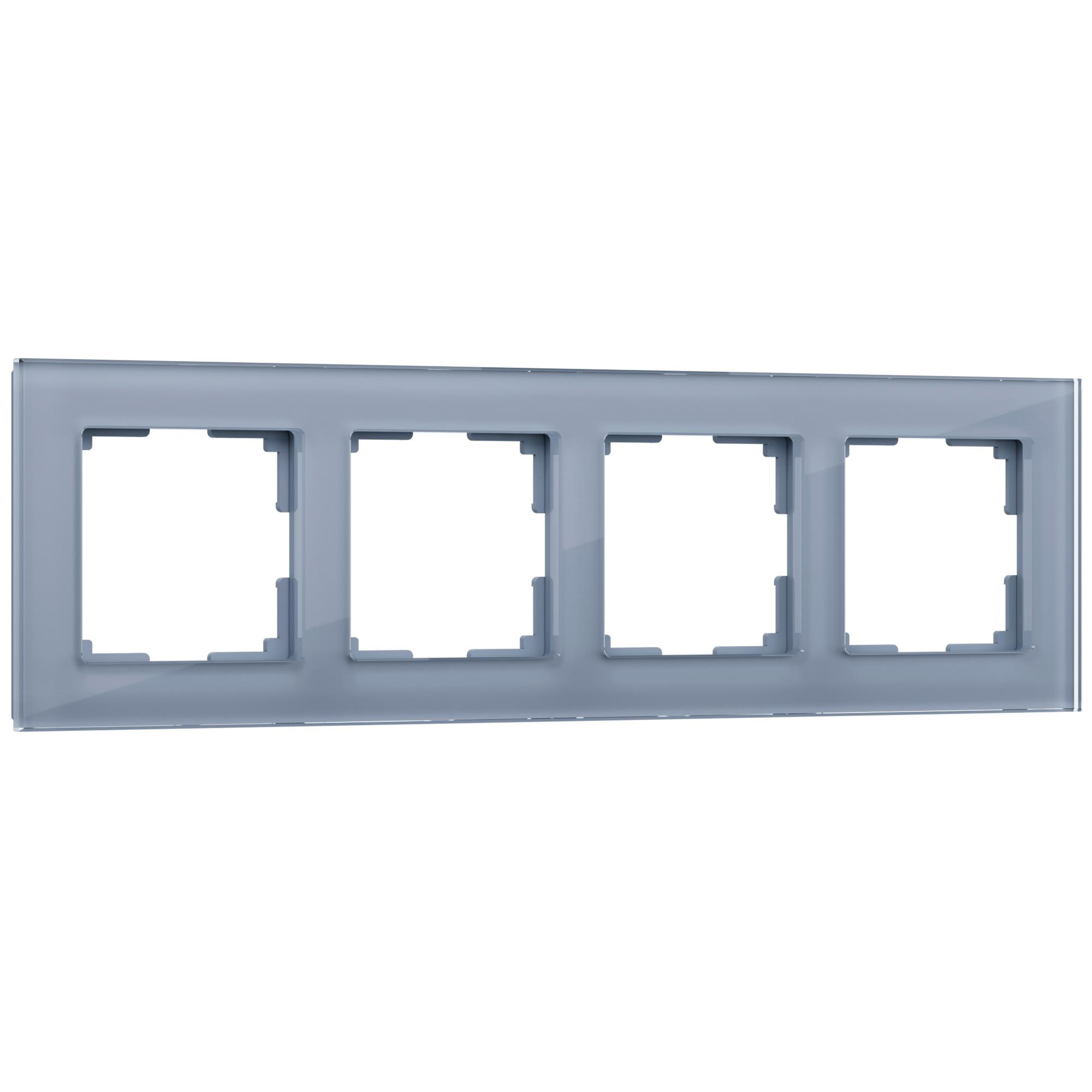 Рамка на 4 поста (серый,стекло) W0041115