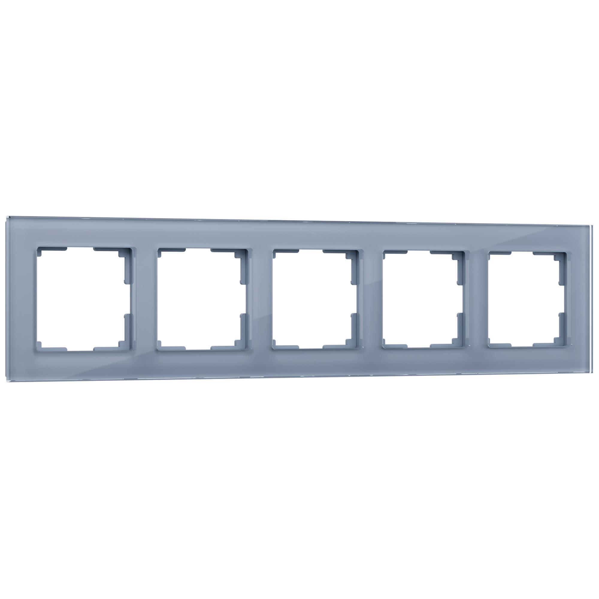 Рамка на 5 постов (серый,стекло) W0051115