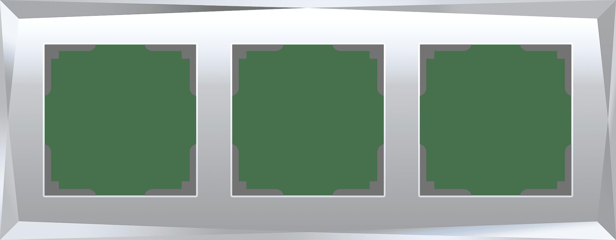 Рамка на 3 поста (зеркальный) W0031220