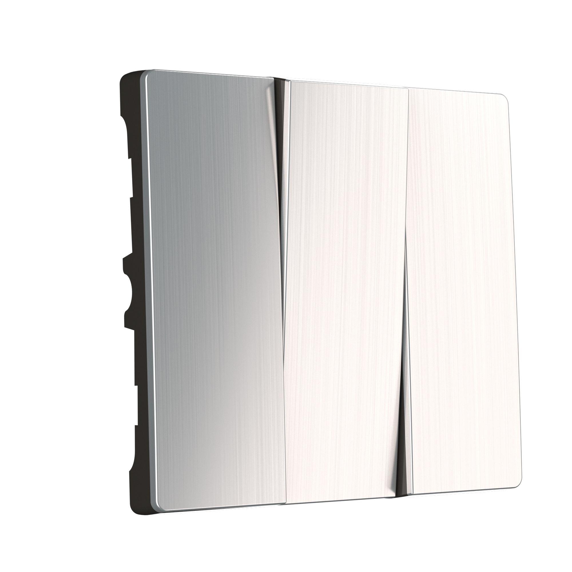 Набор клавиш для выключателя трехклавишного (глянцевый никель) W1139002