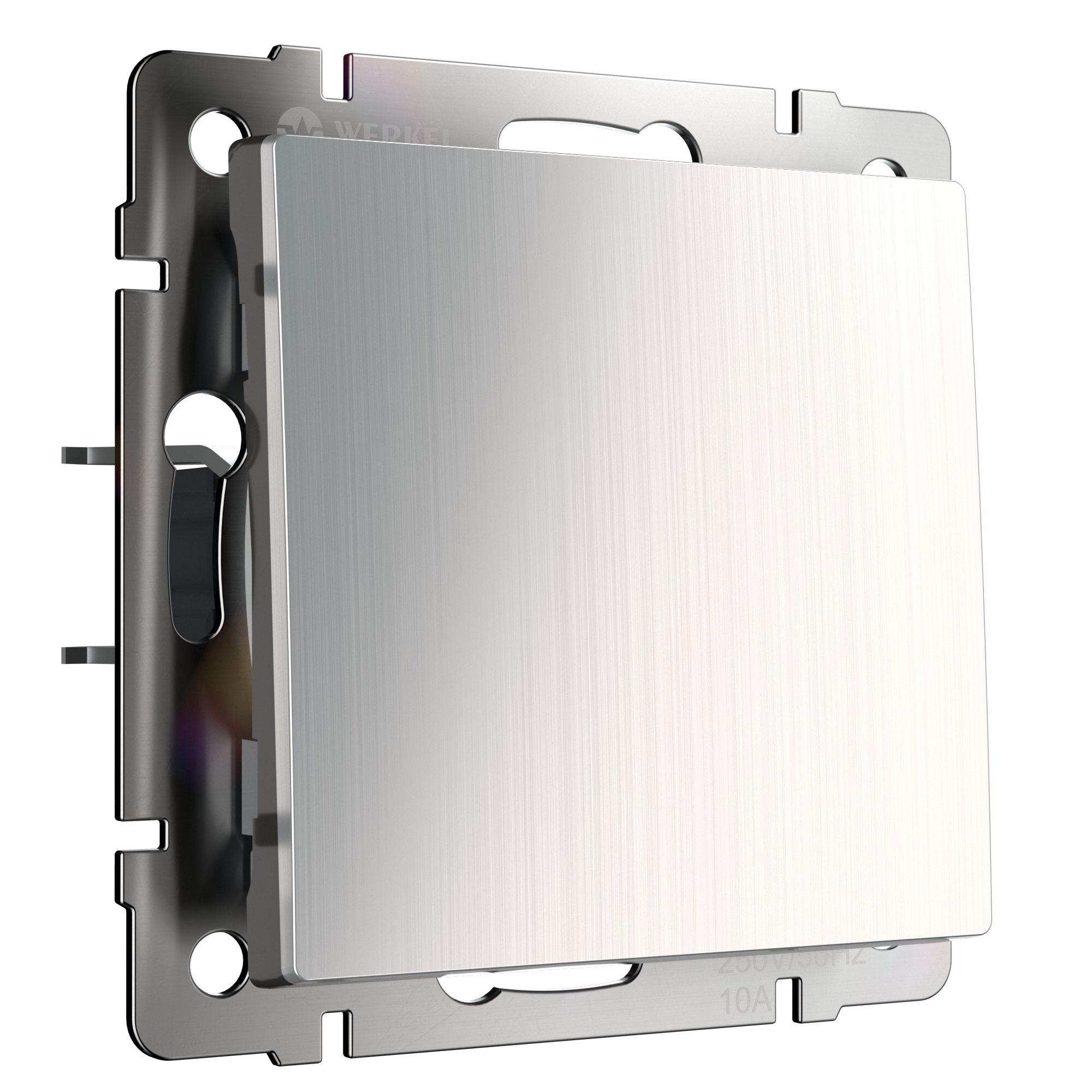 Выключатель одноклавишный проходной (глянцевый никель) W1112002