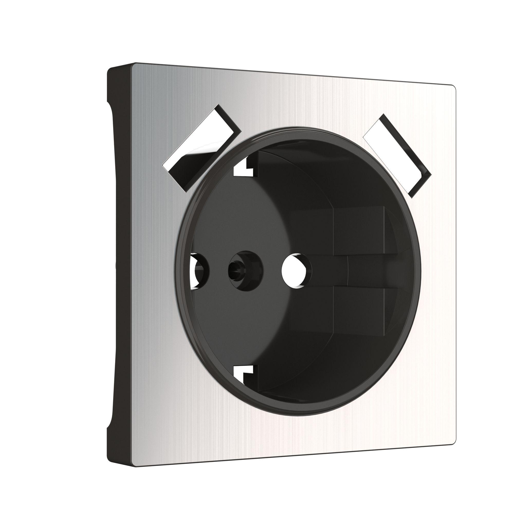 Накладка для USB розетки (глянцевый никель) W1179502