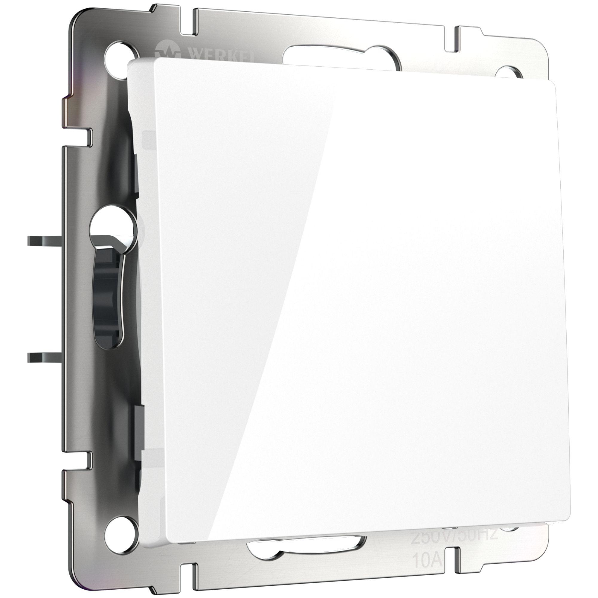Выключатель одноклавишный проходной (белый) W1112001