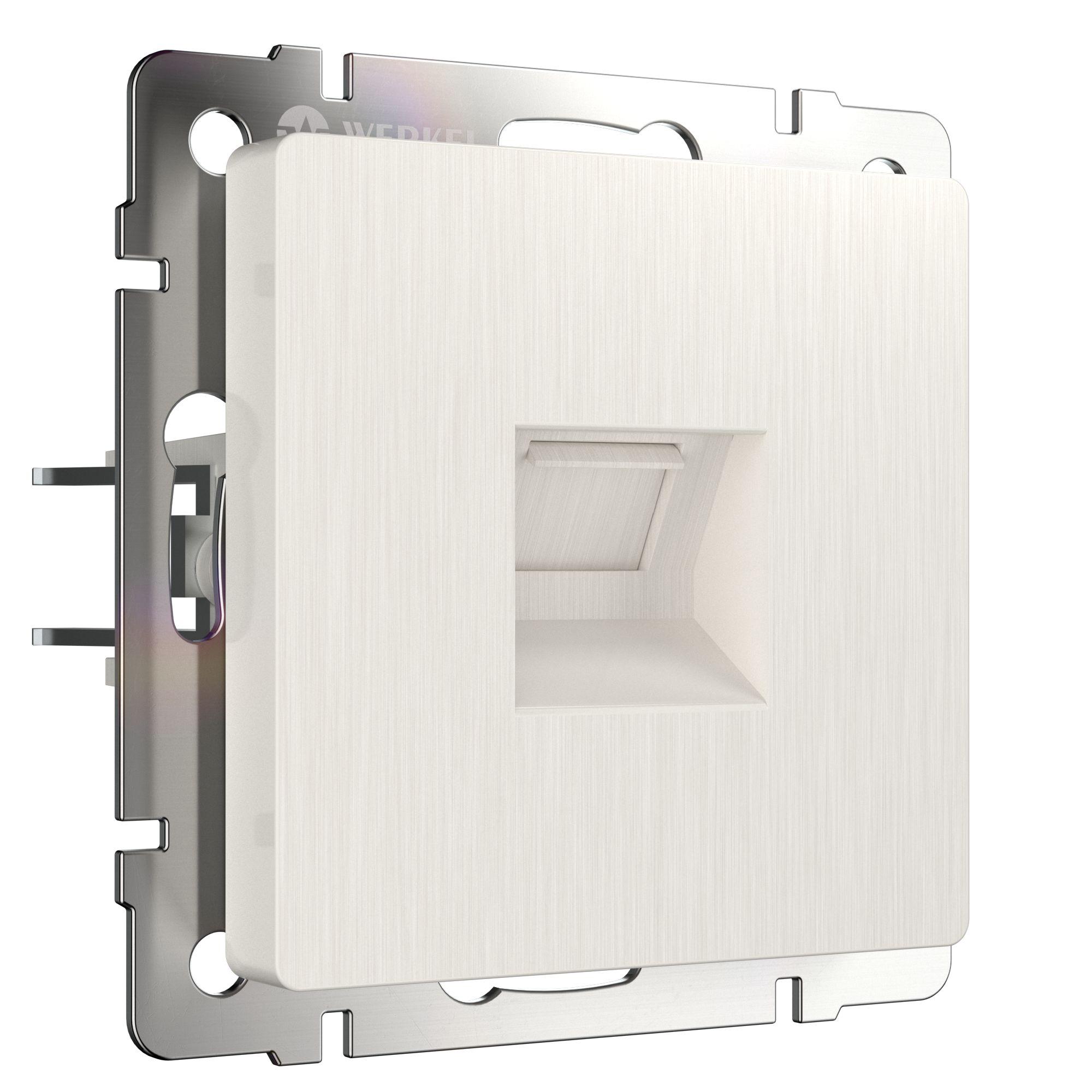 Розетка Ethernet RJ-45 (перламутровый рифленый) W1181013