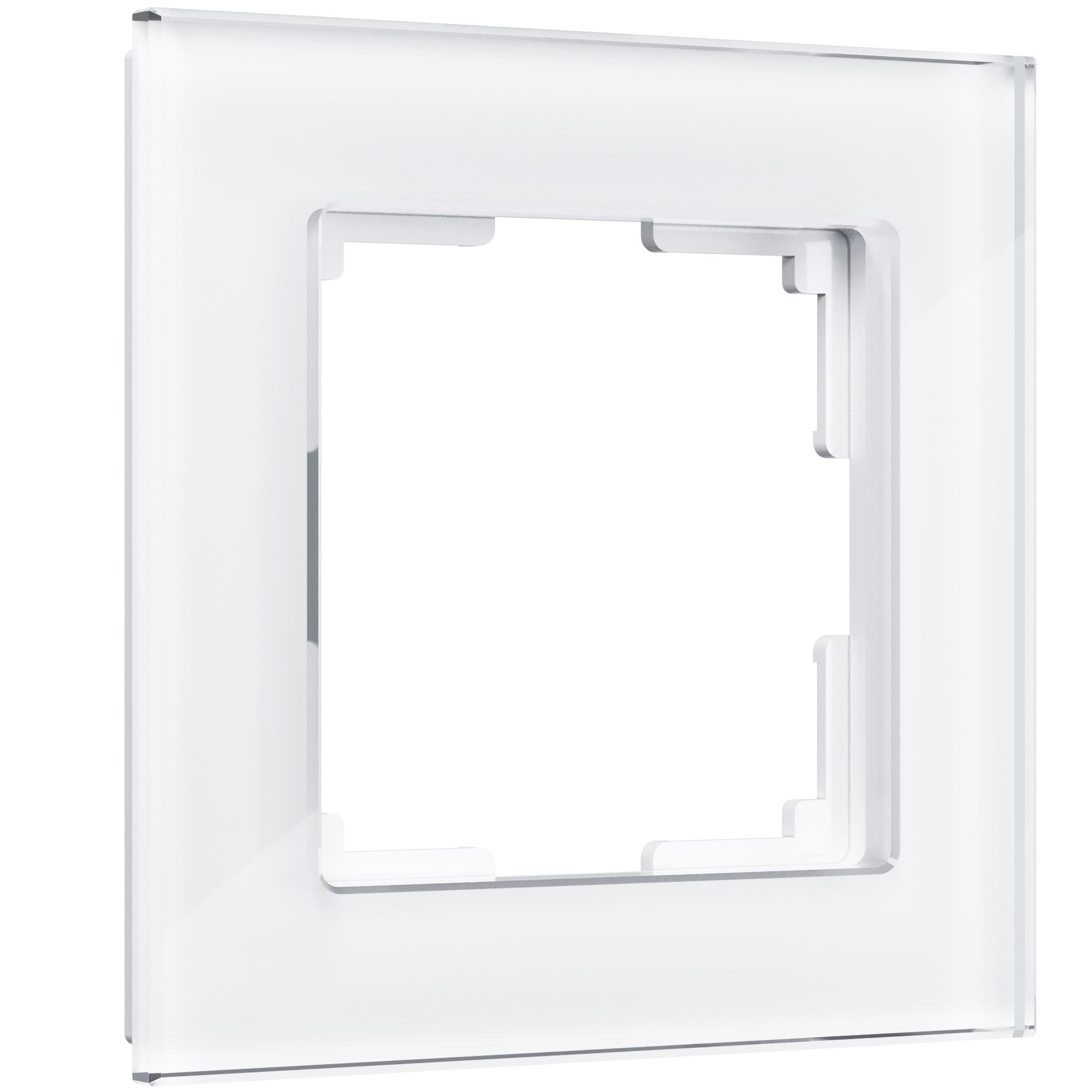 Рамка на 1 пост (белый,стекло) W0011101