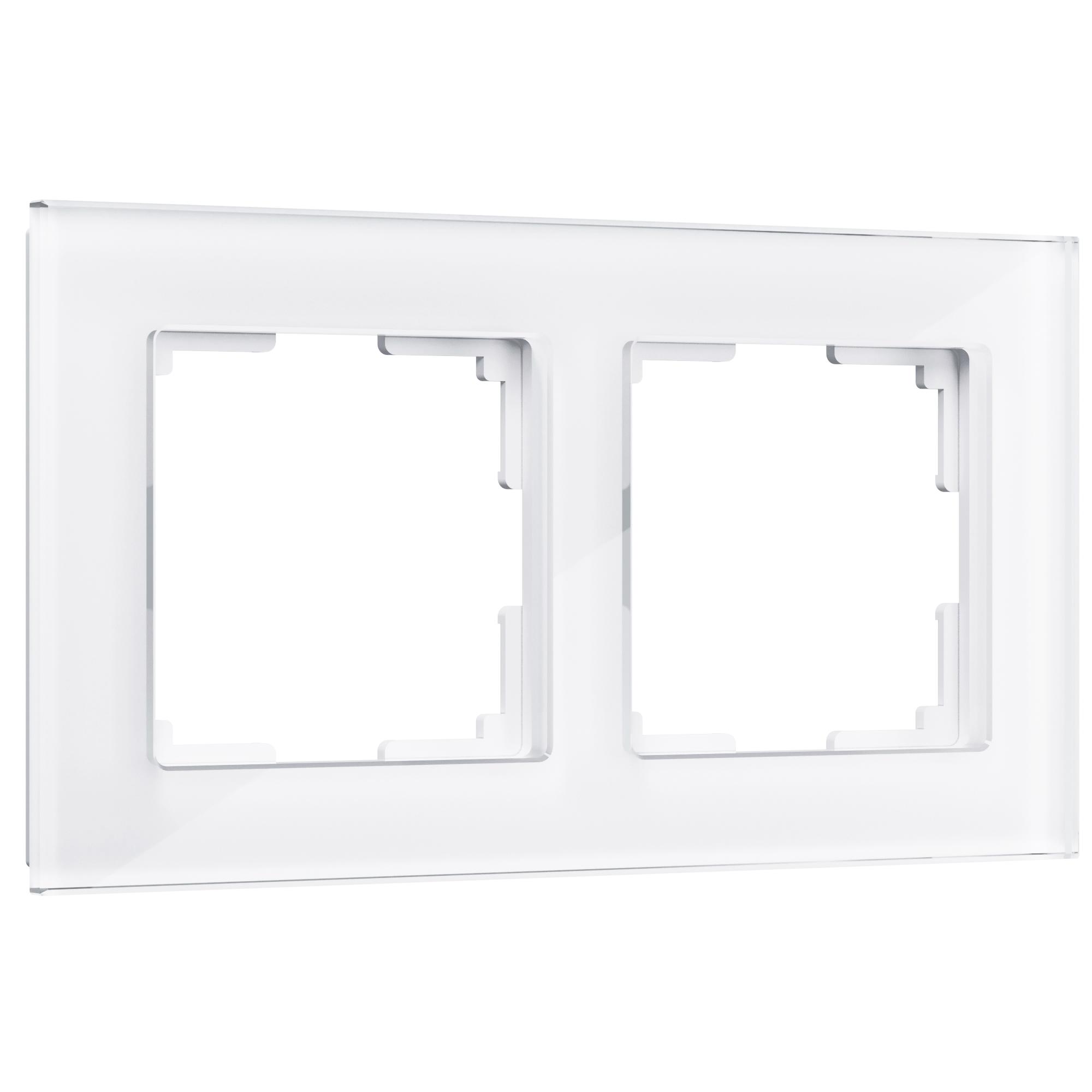 Рамка на 2 поста (белый,стекло) W0021101
