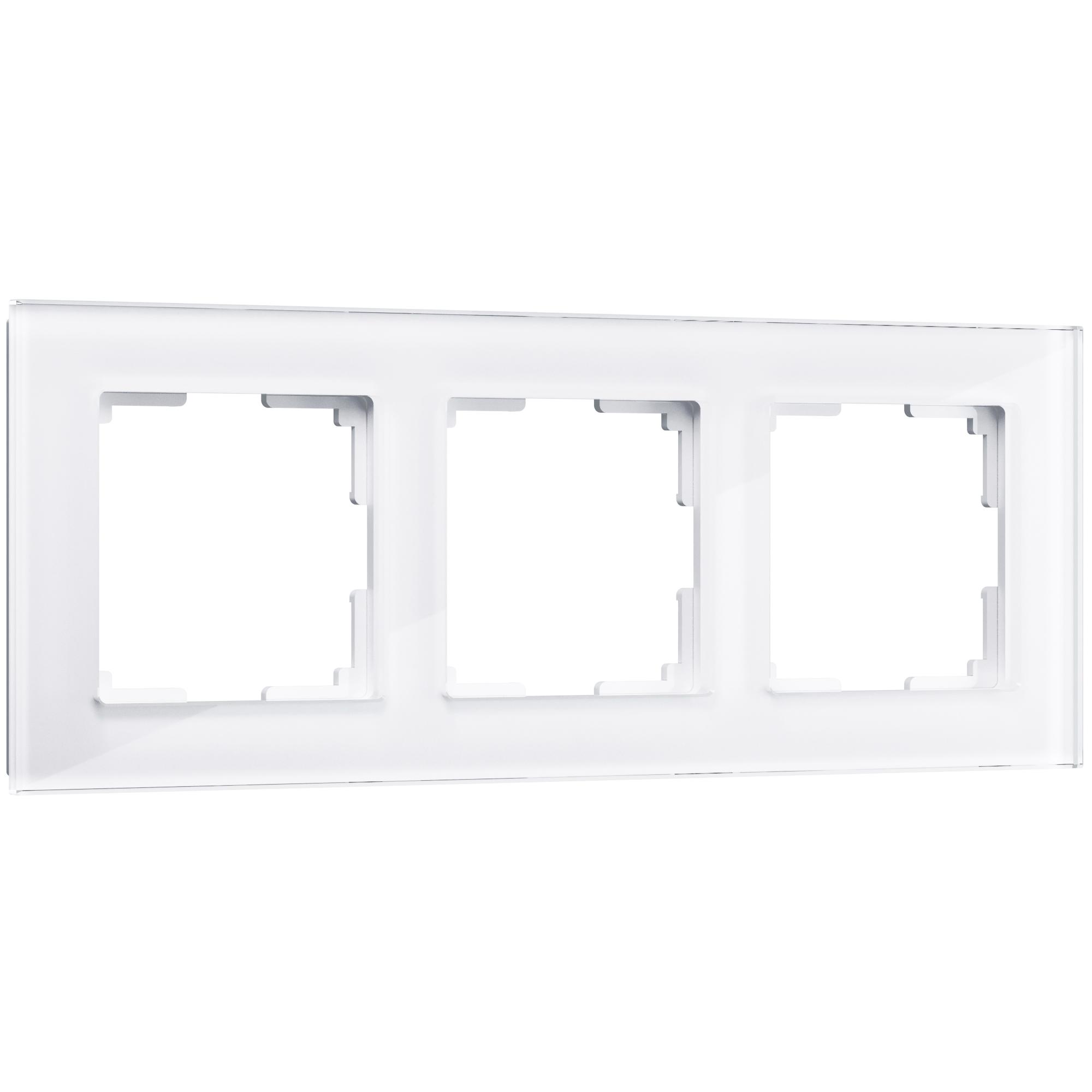 Рамка на 3 поста (белый,стекло) W0031101