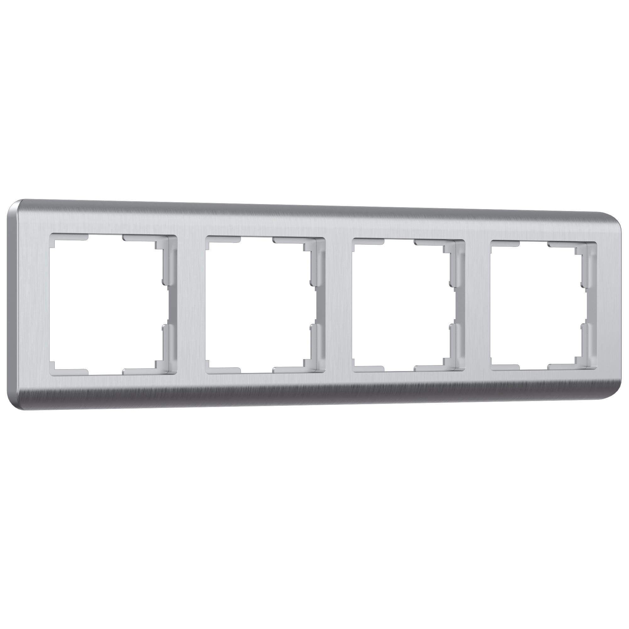 Рамка на 4 поста (серебряный) W0042106