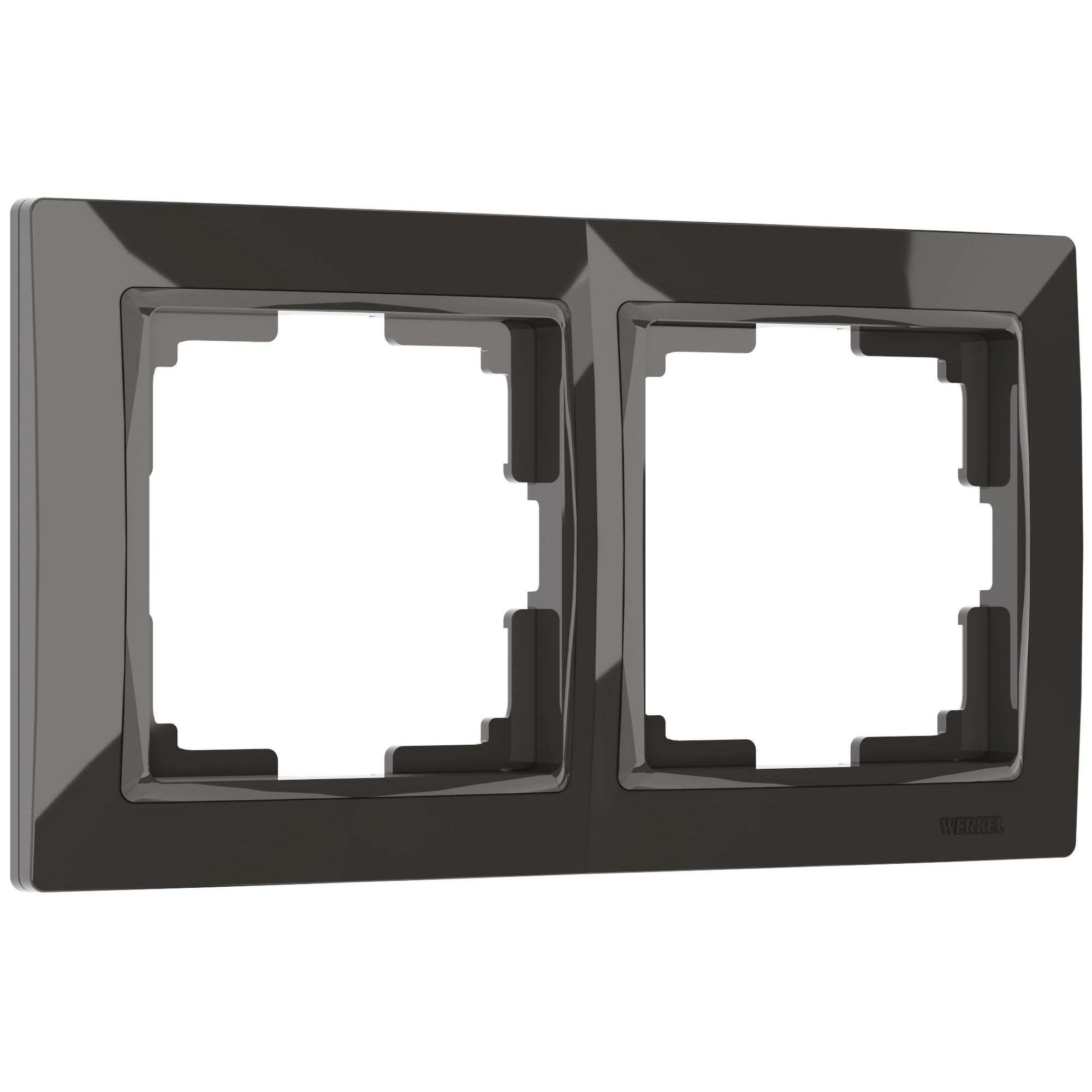 Рамка на 2 поста (серо-коричневый, basic) W0022007