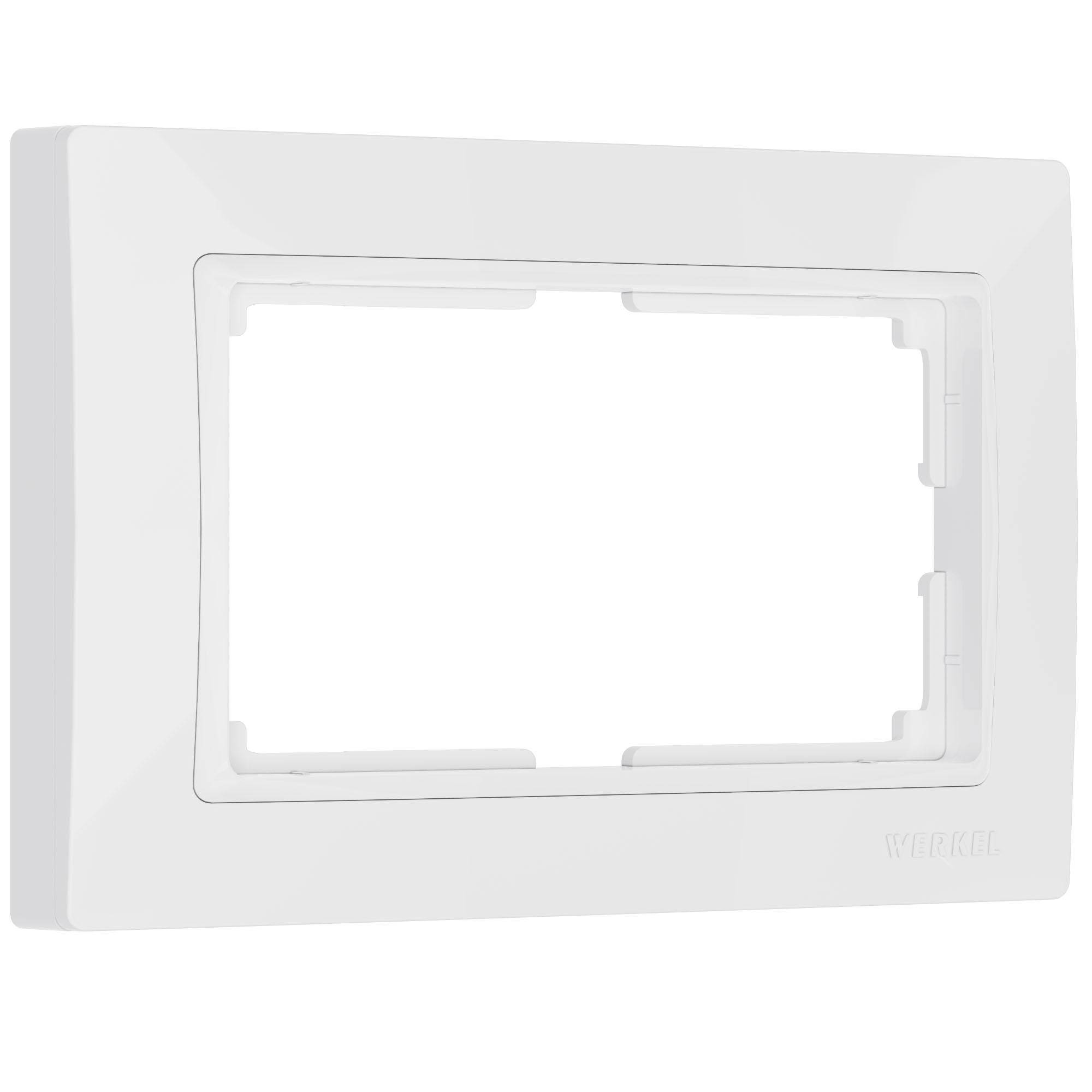 Рамка для двойной розетки (белый, basic) W0082001