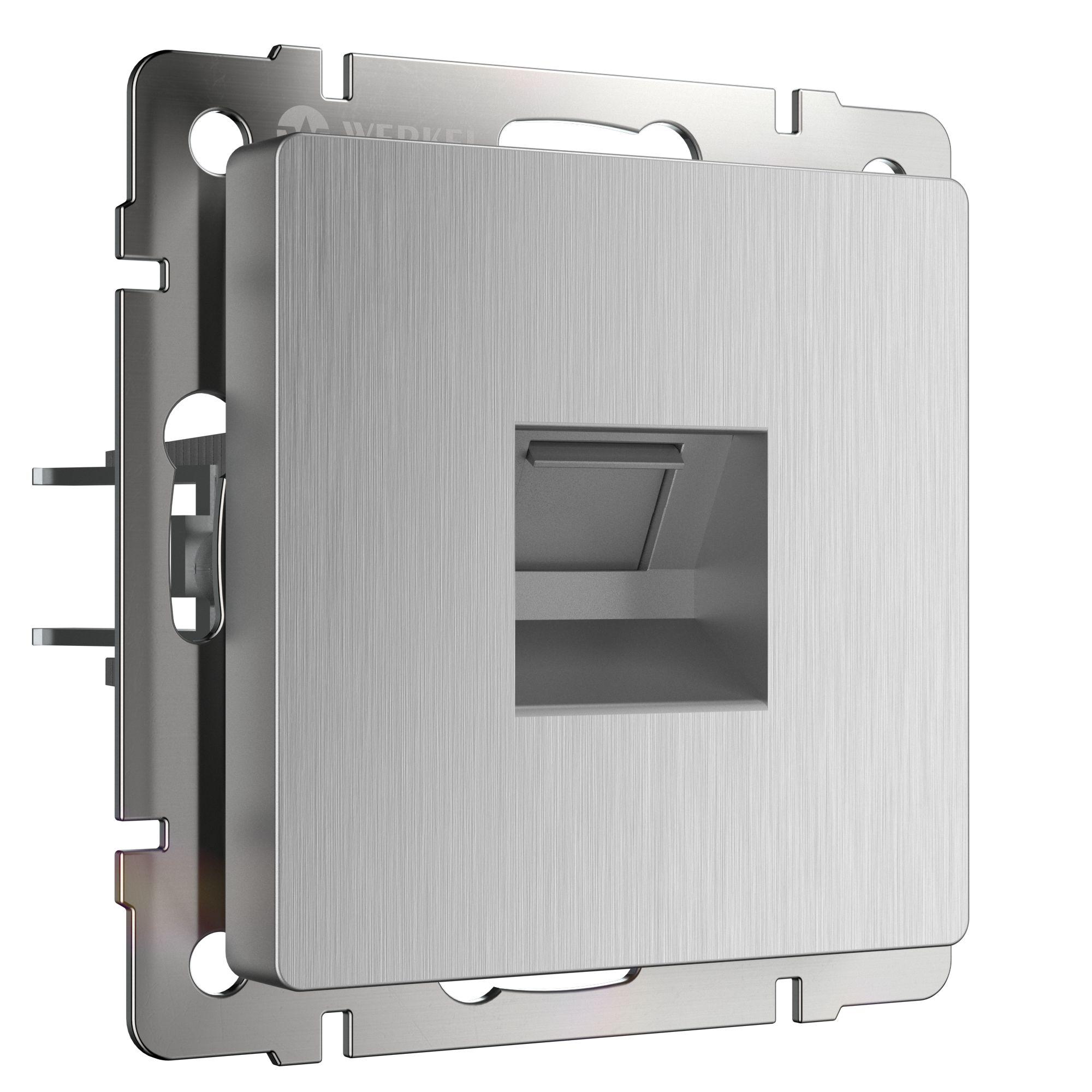 Розетка Ethernet RJ-45 (cеребряный рифленый) W1181009