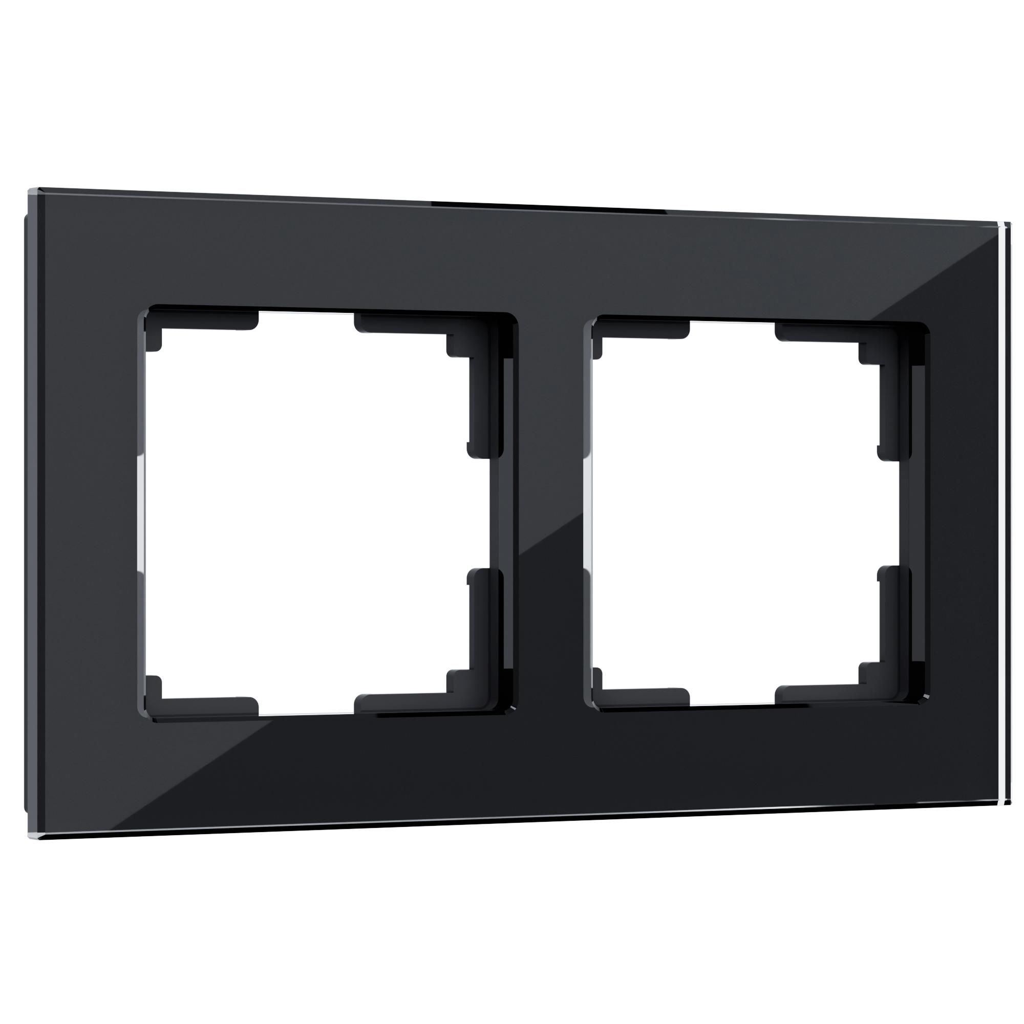 Рамка на 2 поста (черный) W0021108