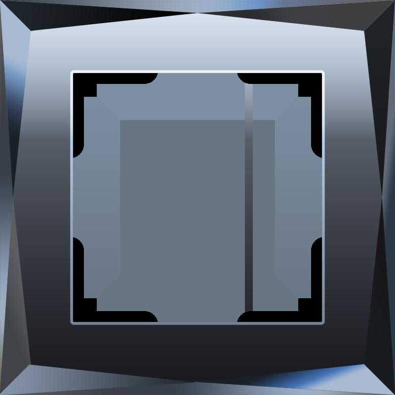 Рамка на 1 пост (черный) W0011208