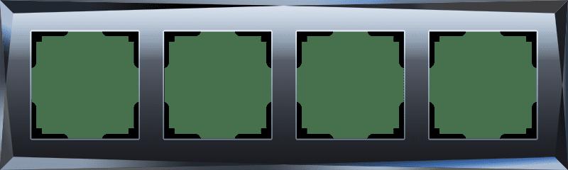 Рамка на 4 поста (черный) W0041208