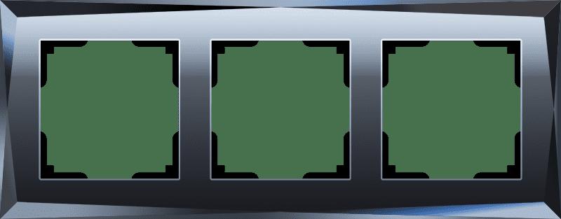 Рамка на 3 поста (черный) W0031208
