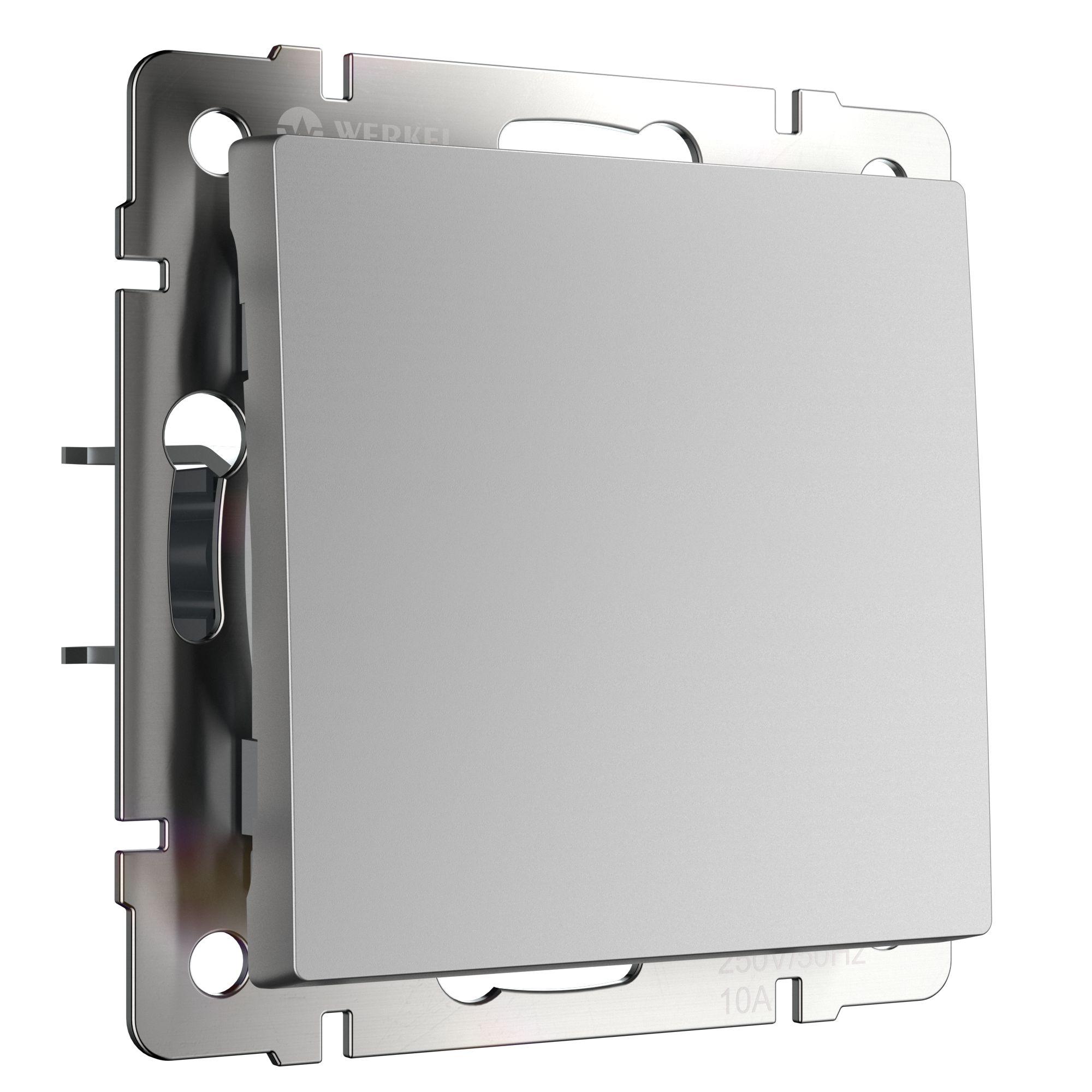 Выключатель одноклавишный (серебряный) W1110006