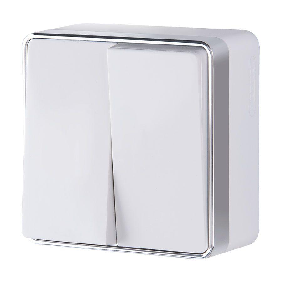 Выключатель  двухклавишный  Gallant (белый) W5020001
