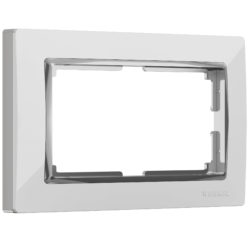 Рамка для двойной розетки (белый/хром) W0081901