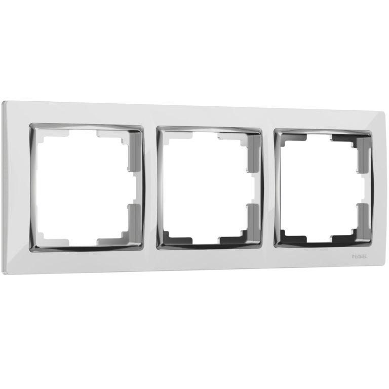 Рамка на 3 поста (белый/хром) W0031901