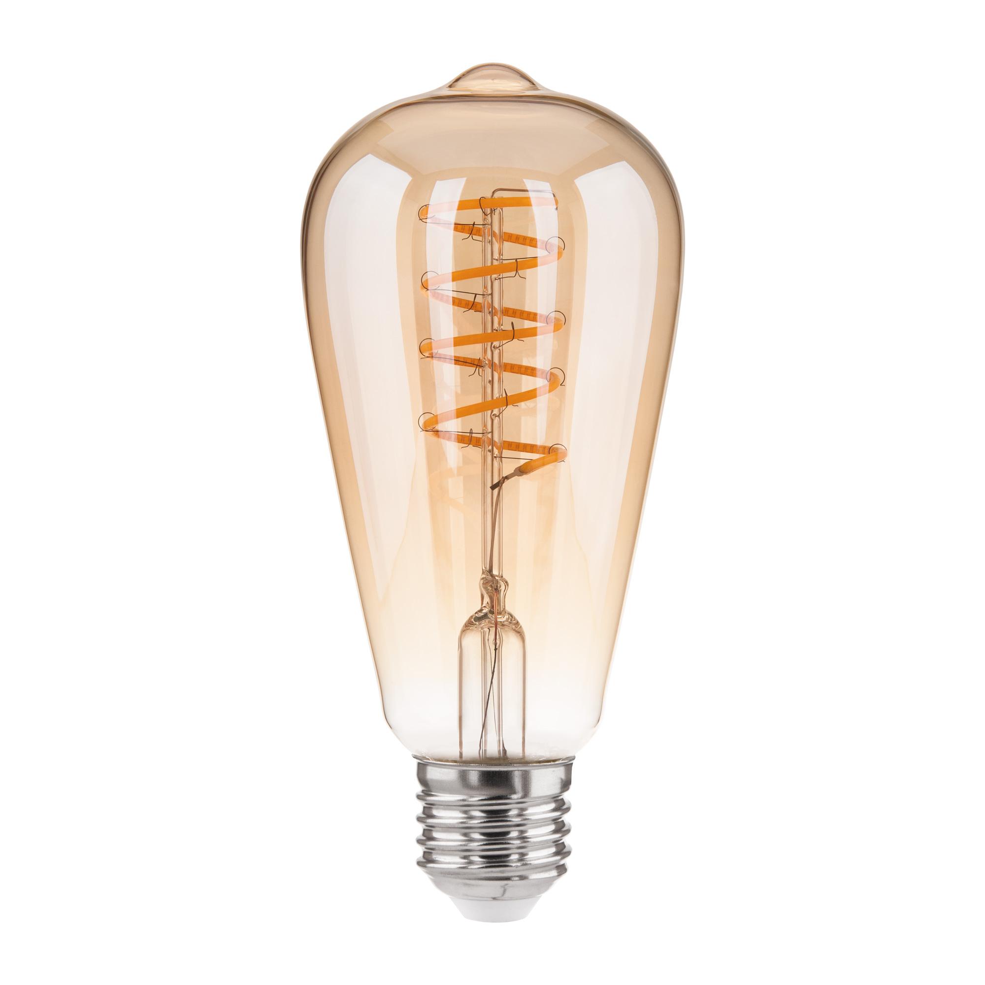 Филаментная светодиодная лампа Dimmable 5W 2700K E27 (ST64 тонированный) BLE2746