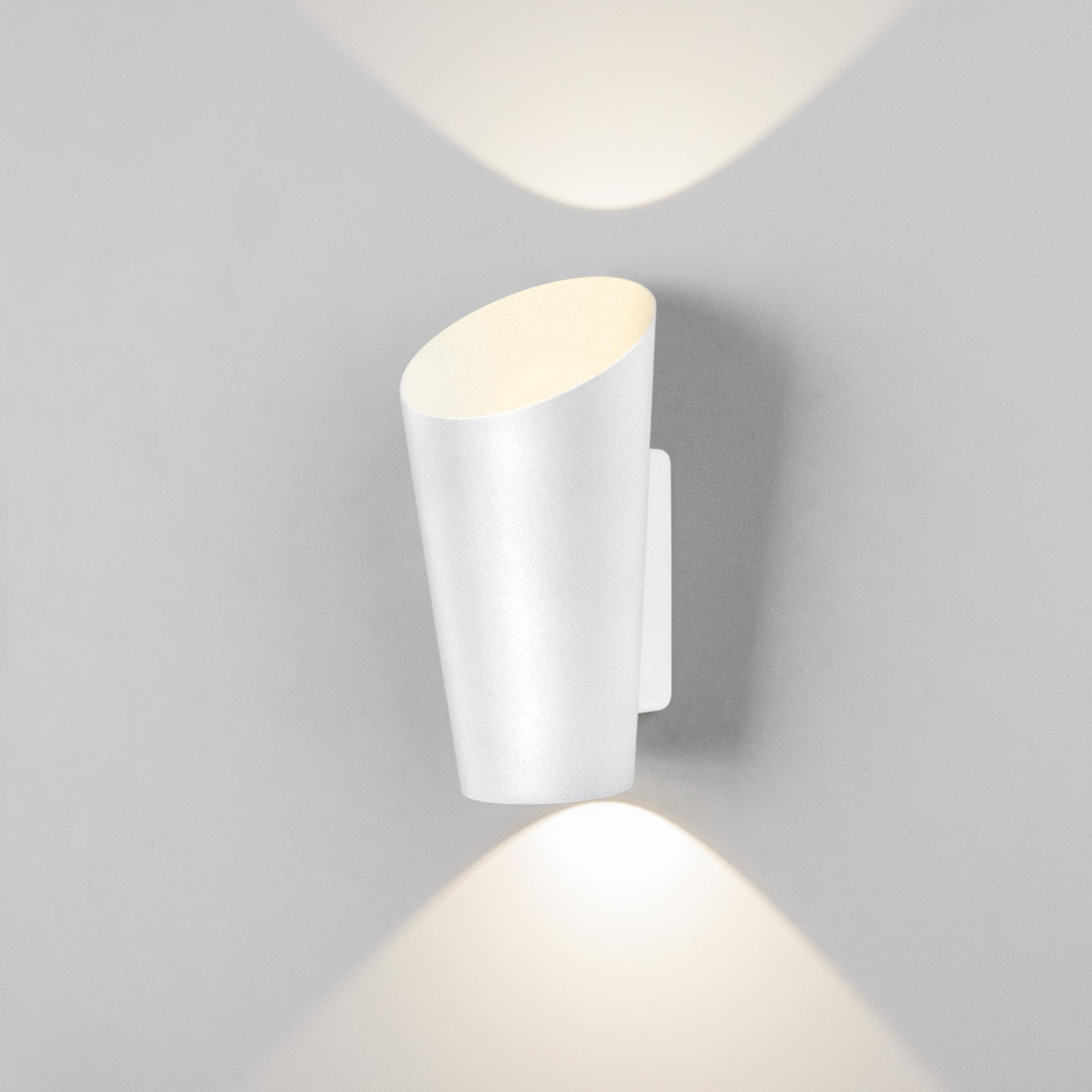 Уличный настенный светодиодный светильник Tronc IP54 1539 TECHNO LED белый