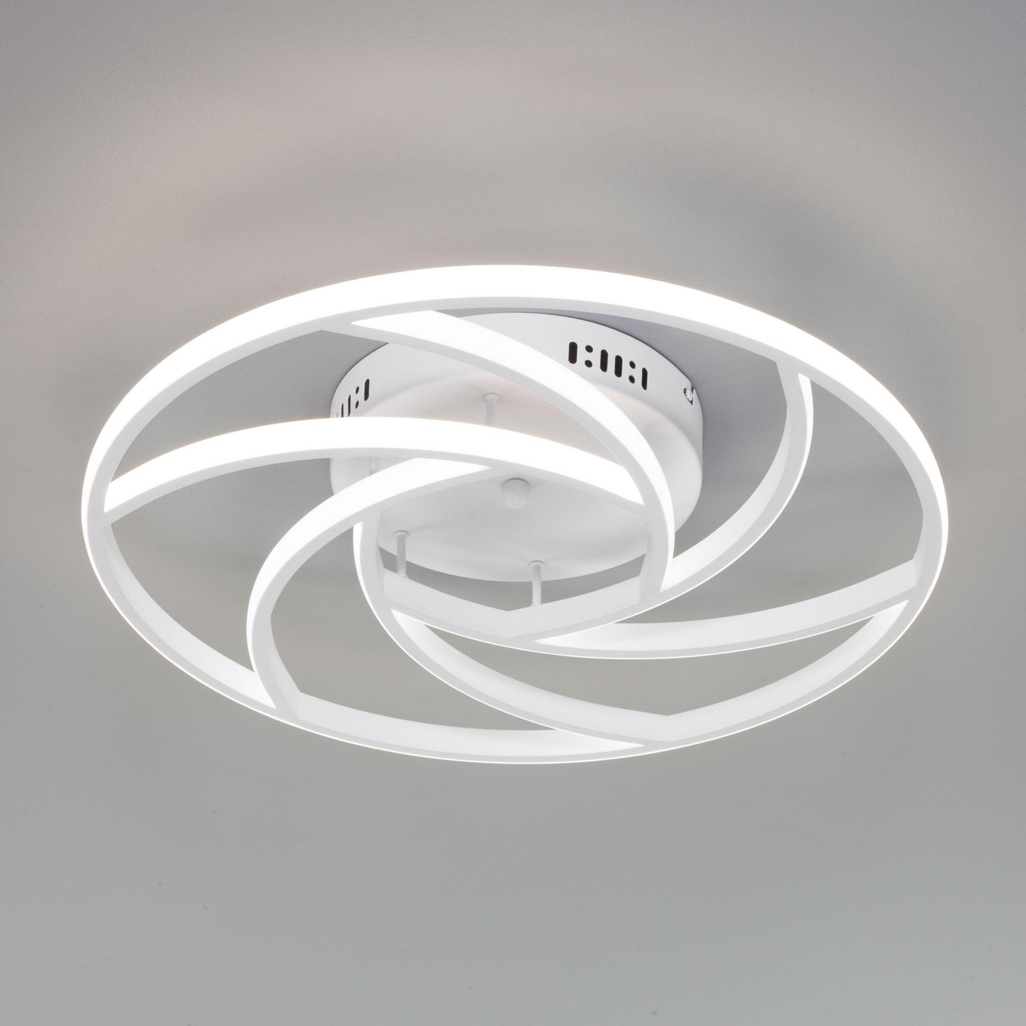 Потолочный светодиодный светильник с пультом управления 90207/1 белый