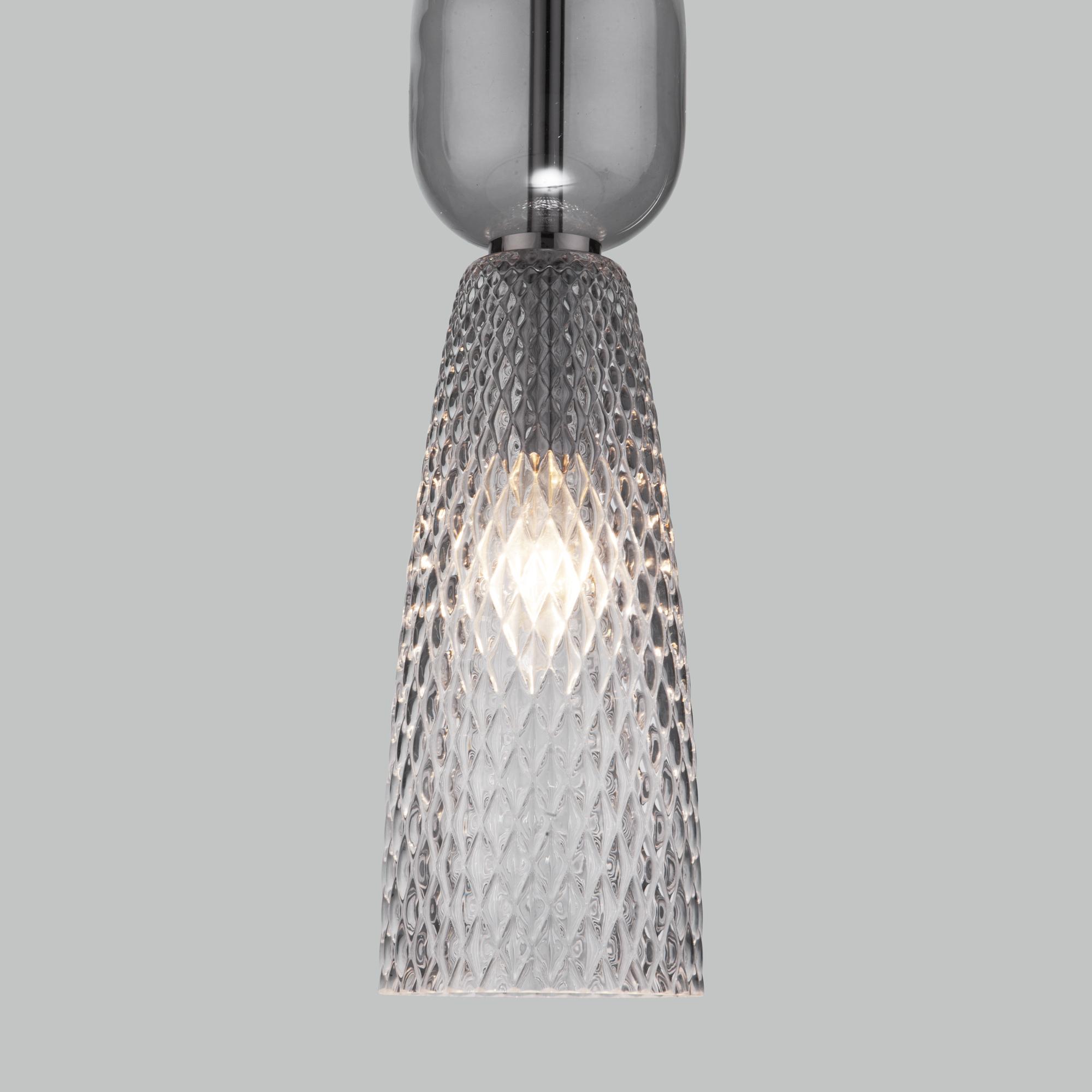 Подвесной светильник со стеклянным плафоном 50211/1 дымчатый