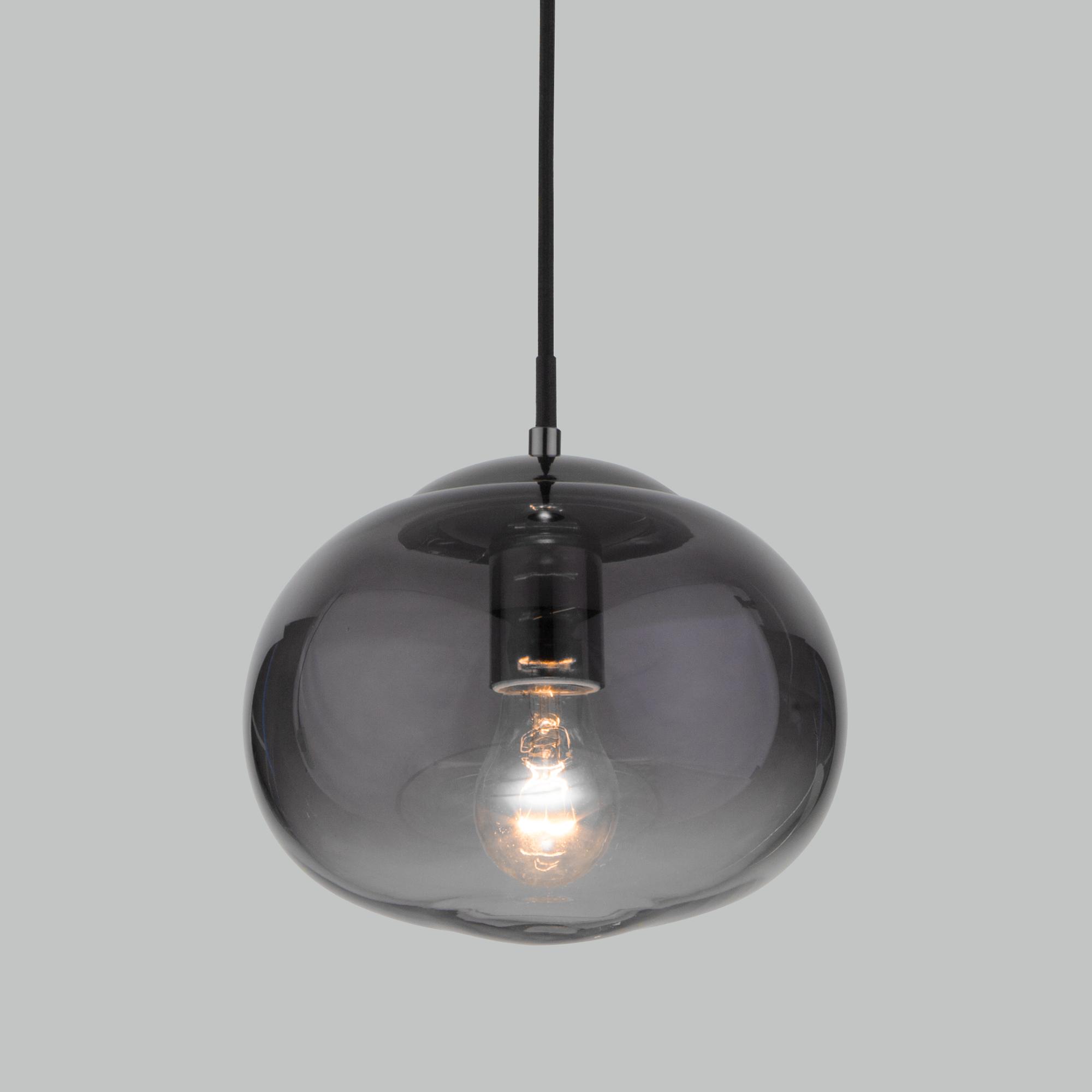 Подвесной светильник со стеклянным плафоном 50212/1 дымчатый