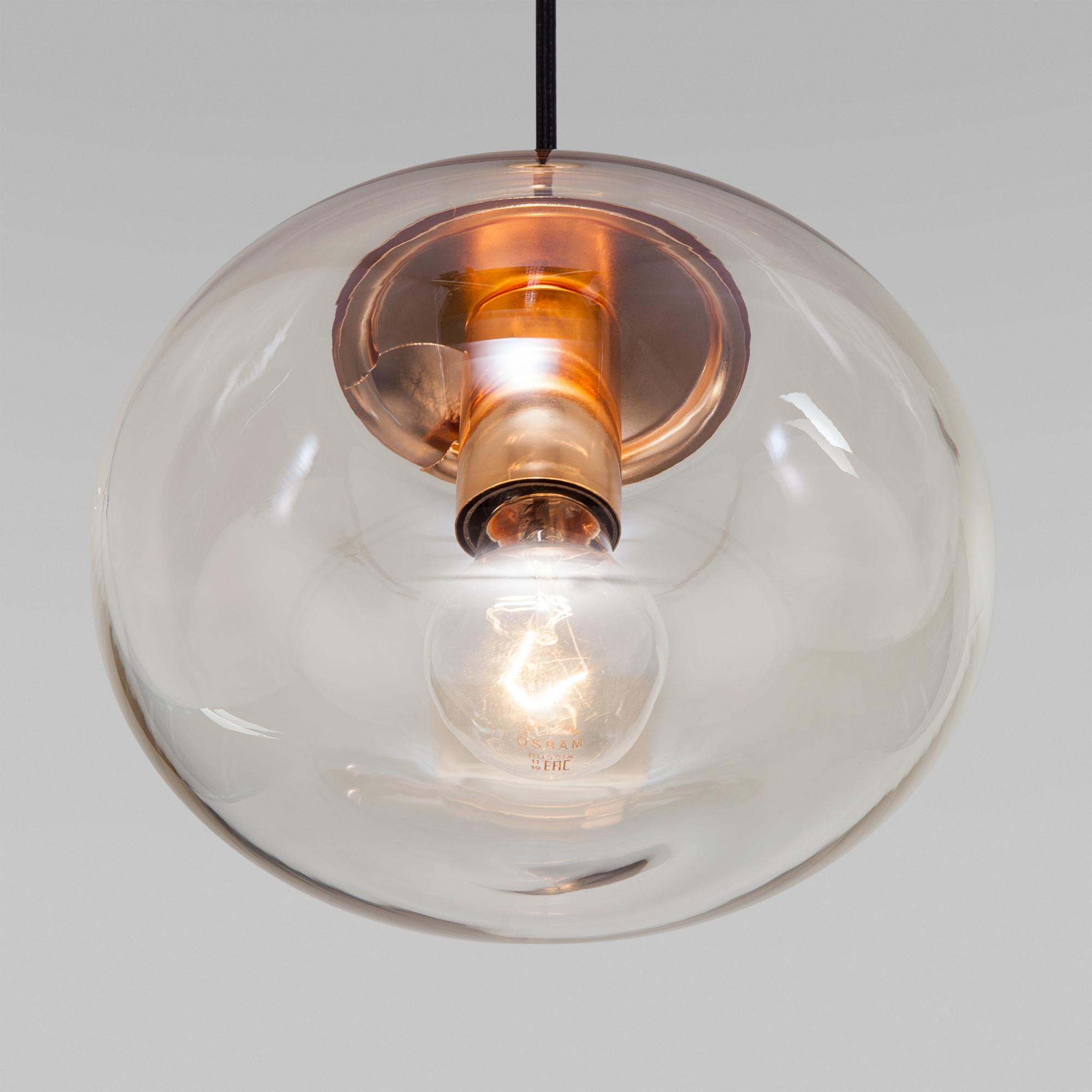 Подвесной светильник со стеклянным плафоном 50212/1 янтарный