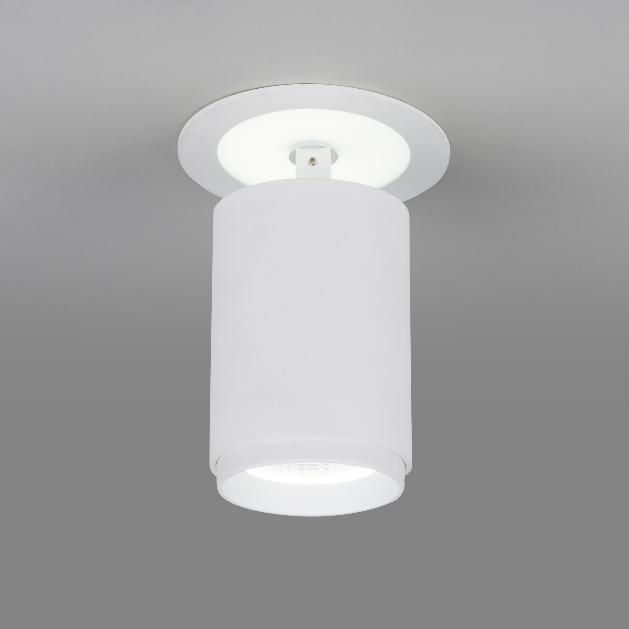 Акцентный светодиодный светильник DSR002 9+3W 6500K белый матовый