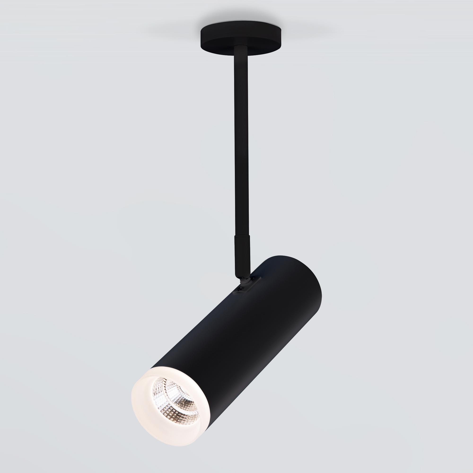 Накладной акцентный светильник DLS022 9W 4200K черный матовый