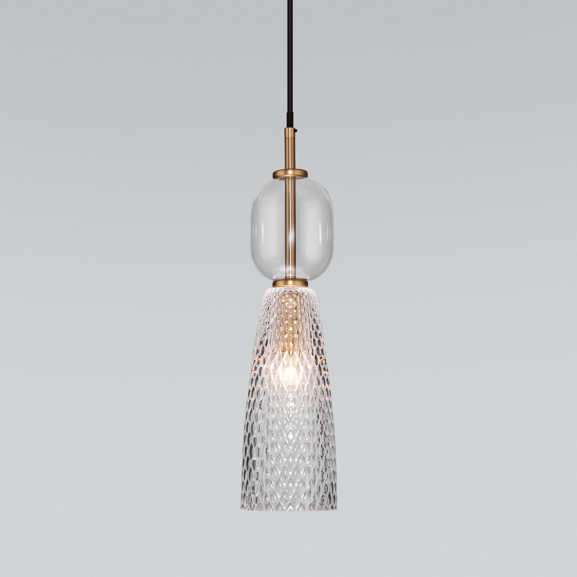 Подвесной светильник со стеклянным плафоном 50211/1 прозрачный