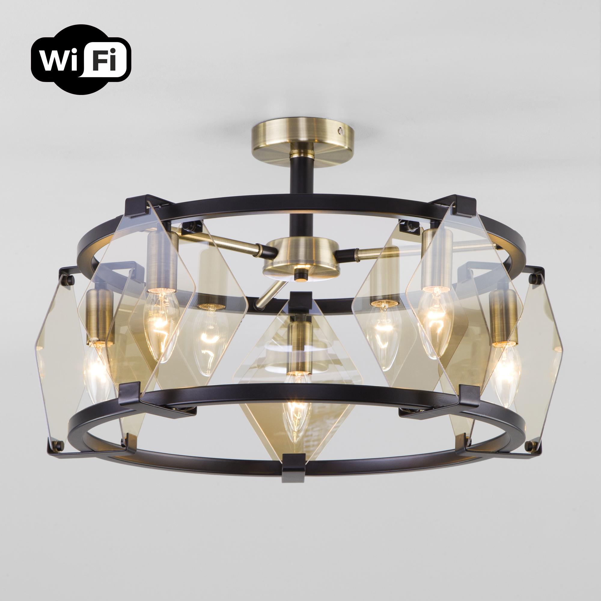 Потолочная люстра с управлением по Wi-Fi 60126/5 черный Smart (60116/5)