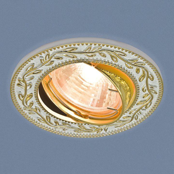 Точечный светильник 713 MR16 WH/GD белый/золото